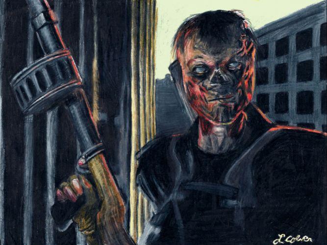 FALLOUT sci-fi warrior zombie dark wallpaper