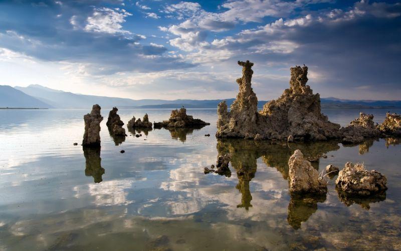 Landscape Water Rocks wallpaper