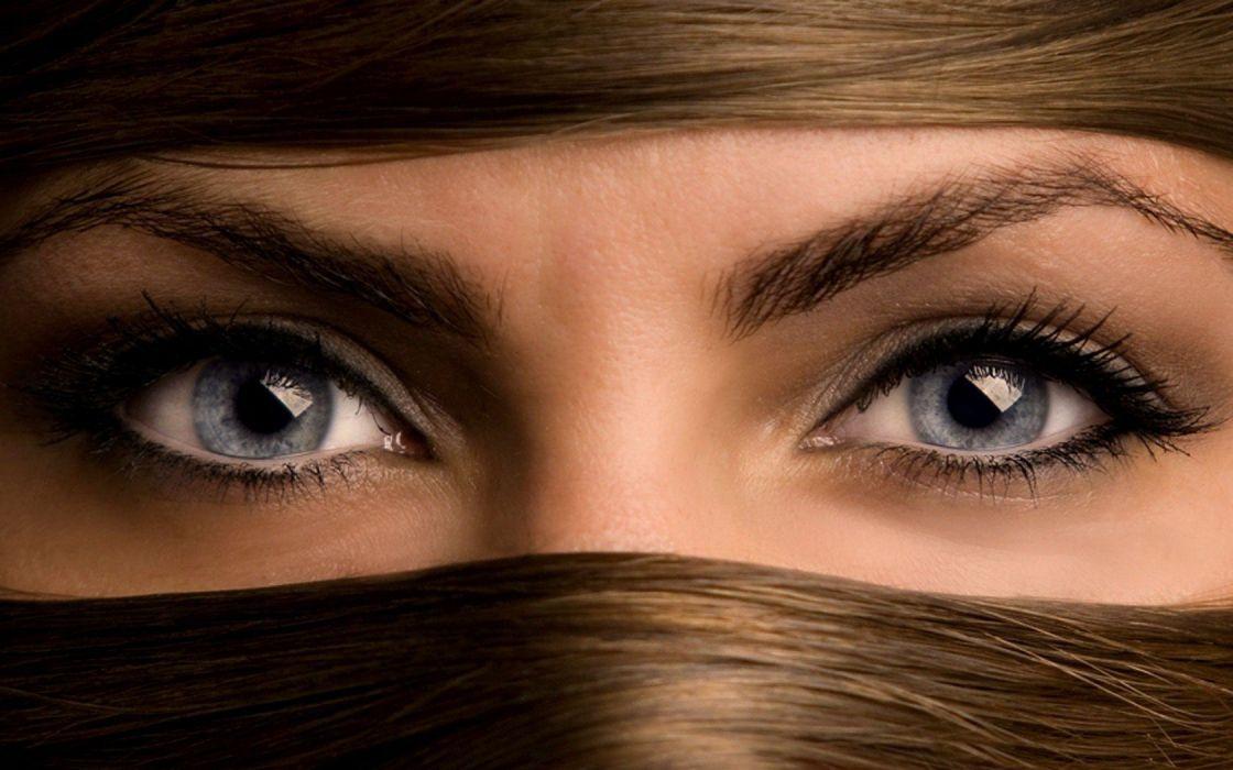 Woman Girl Beauty Blue Eyes wallpaper