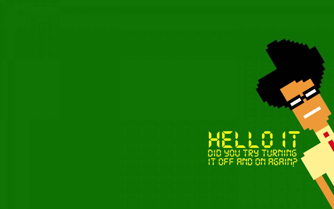The IT Crowd Green 8-Bit game computer wallpaper