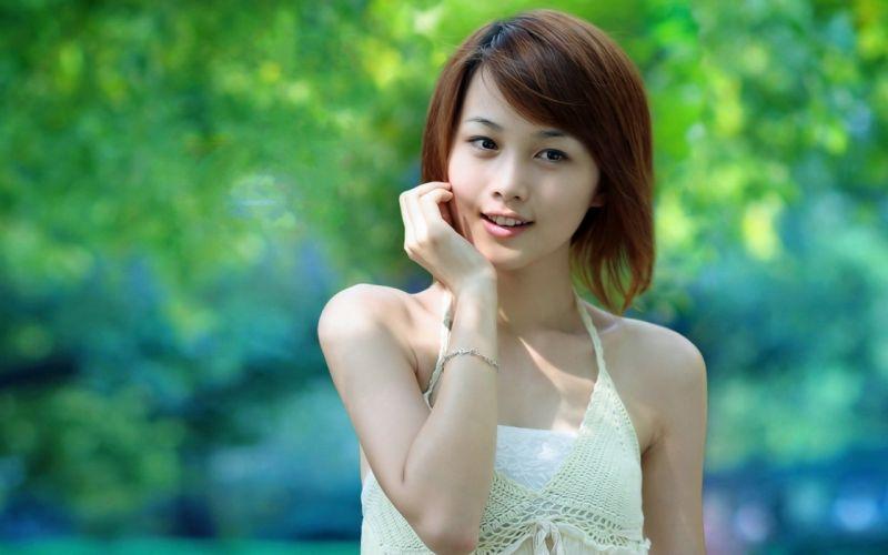 Woman Girl Beauty Asian Redhead wallpaper