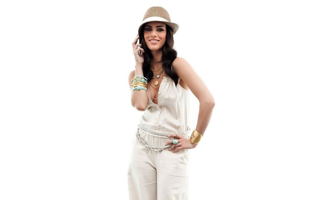 Woman Girl Beauty Brunette Hat Jessica Lowndes Actress Pop Singer wallpaper