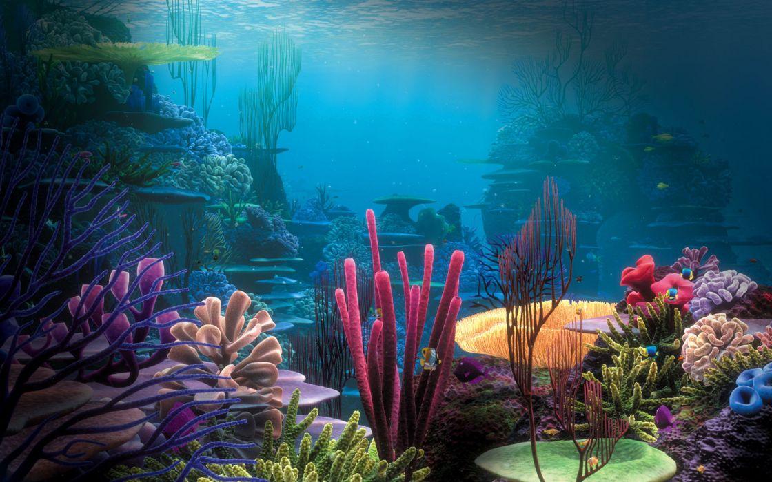 sea underwater coral ocean fantasy wallpaper