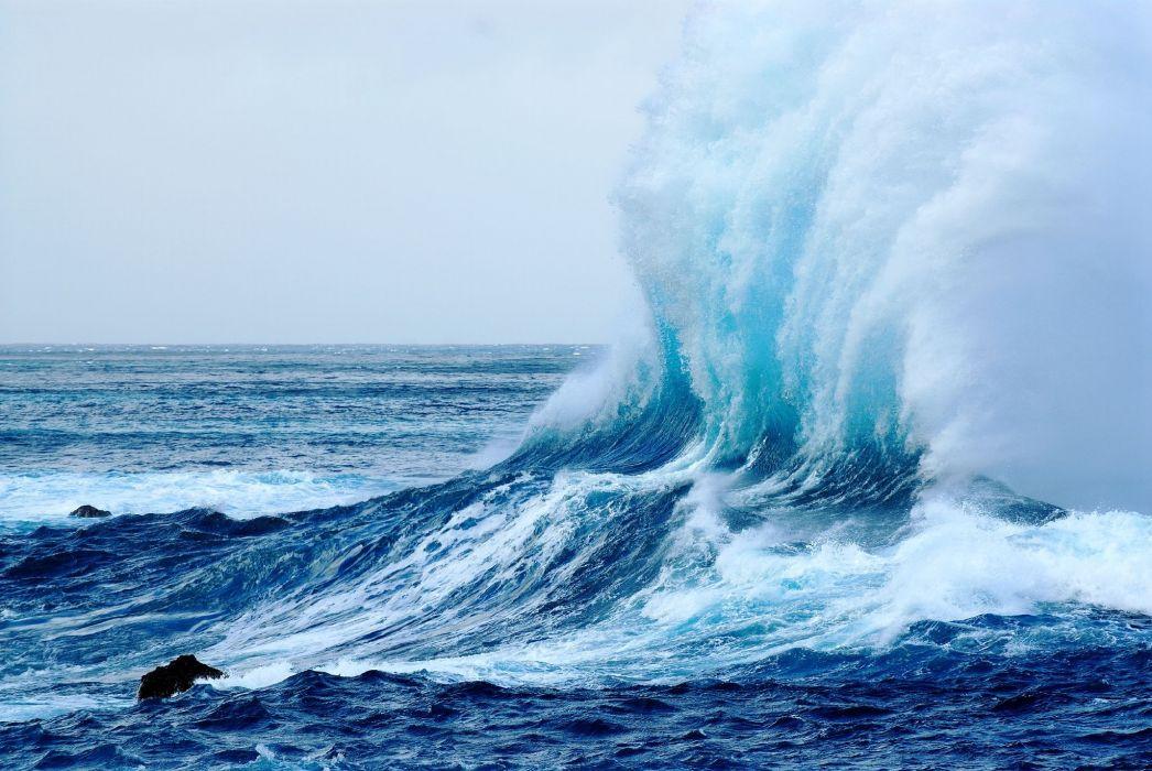 sea waves splashes landscape ocean wallpaper