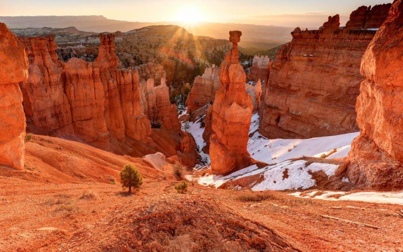 Utah mountains rocks landscape wallpaper