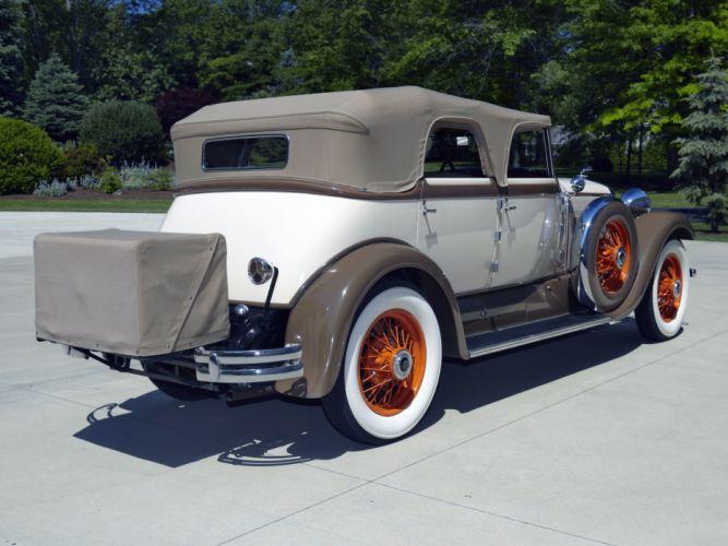 1930 Lincoln Model-L Convertible Sedan by Derham luxury retro wallpaper