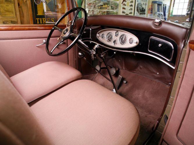 1932 Lincoln Model-KB 4-door Sedan retro luxury interior f wallpaper
