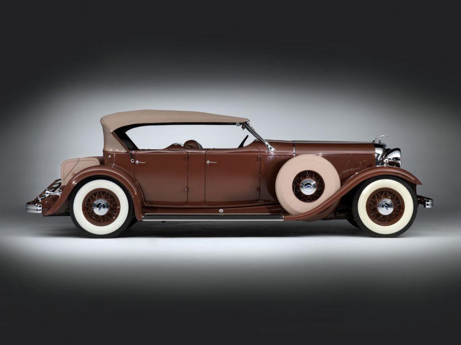 1932 Lincoln Model-KB Dual Windshield Phaeton by Brunn retro  gf wallpaper