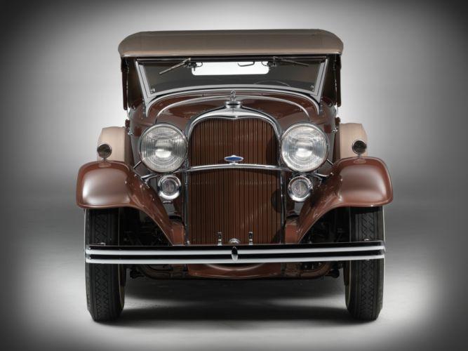 1932 Lincoln Model-KB Dual Windshield Phaeton by Brunn retro wallpaper