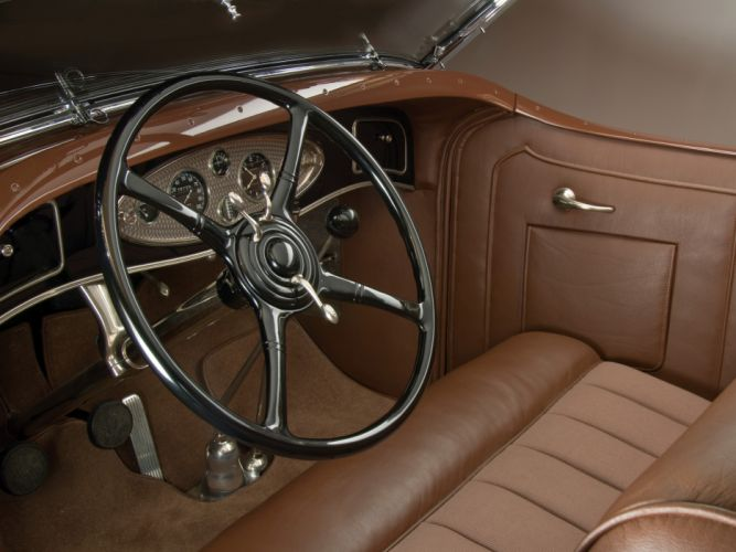 1932 Lincoln Model-KB Dual Windshield Phaeton by Brunn retro interior h wallpaper