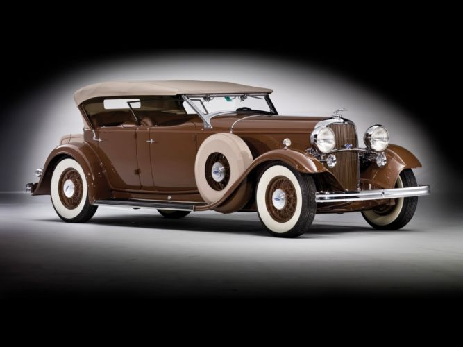 1932 Lincoln Model-KB Dual Windshield Phaeton by Brunn retro gd wallpaper