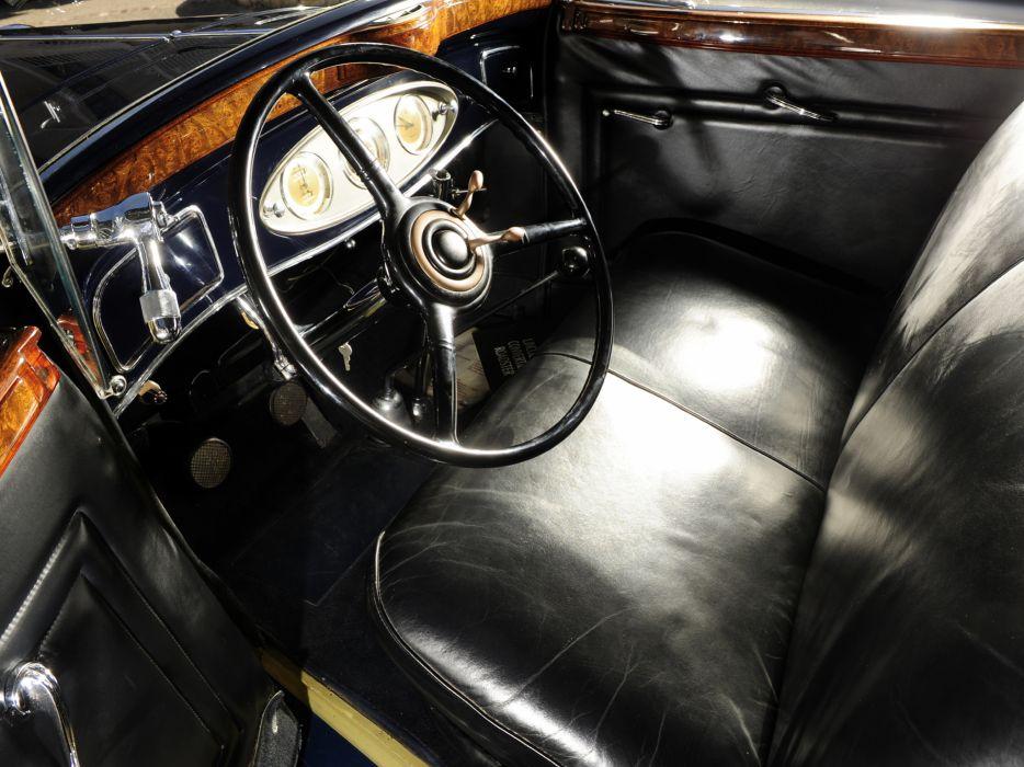 1933 Lincoln Model-KA Convertible Roadster by Murray retro b-w luxury interior     h wallpaper