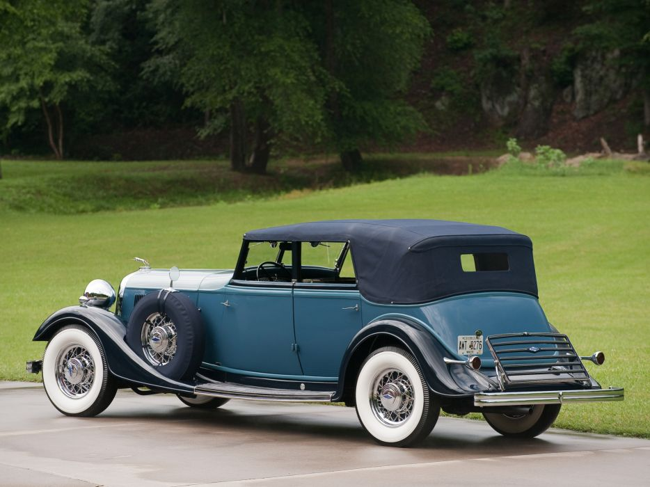 1933 Lincoln Model-KA Custom Convertible Sedan by Dietrich retro luxury    g wallpaper