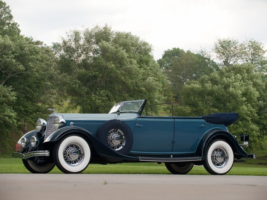 1933 Lincoln Model-KA Custom Convertible Sedan by Dietrich retro luxury   gd wallpaper