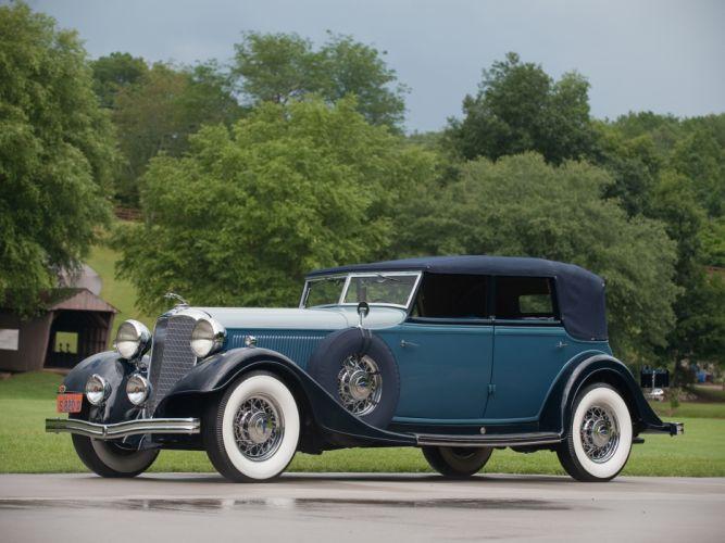 1933 Lincoln Model-KA Custom Convertible Sedan by Dietrich retro luxury wallpaper