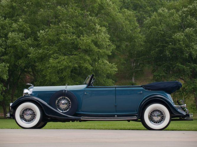 1933 Lincoln Model-KA Custom Convertible Sedan by Dietrich retro luxury f wallpaper