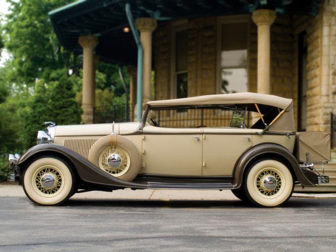 1933 Lincoln Model-KA Dual Cowl Phaeton by Dietrich retro luxury wheel ff wallpaper