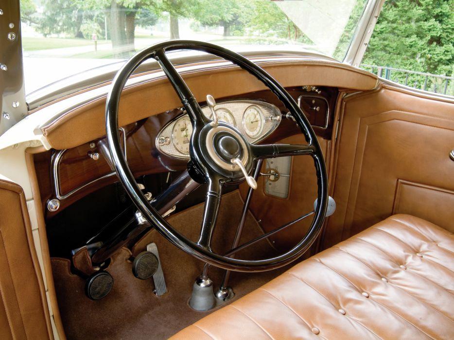 1933 Lincoln Model-KA Dual Cowl Phaeton by Dietrich retro luxury interior      g wallpaper