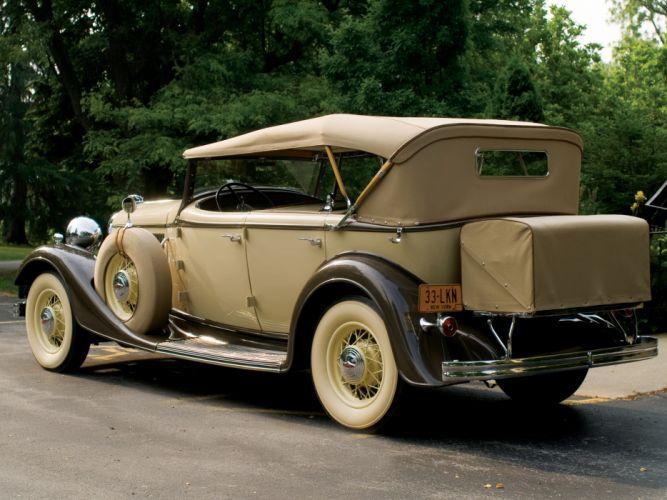 1933 Lincoln Model-KA Dual Cowl Phaeton by Dietrich retro luxury f wallpaper