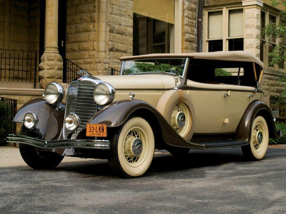 1933 Lincoln Model-KA Dual Cowl Phaeton by Dietrich retro luxury wallpaper
