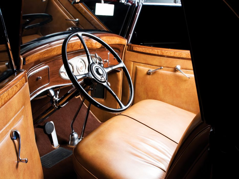 1933 Lincoln Model-KA Roadster by Dietrich retro luxury interior r wallpaper