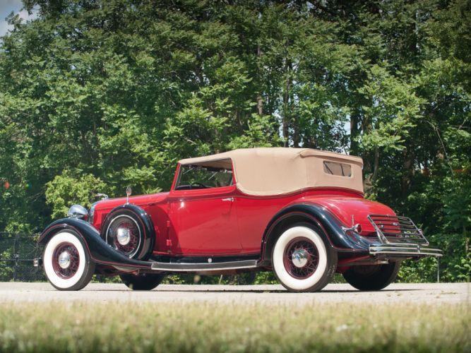 1933 Lincoln Model-KA Roadster by Dietrich retro luxury gn wallpaper