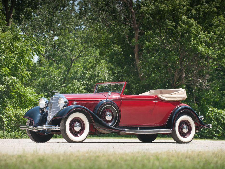 1933 Lincoln Model-KA Roadster by Dietrich retro luxury wallpaper