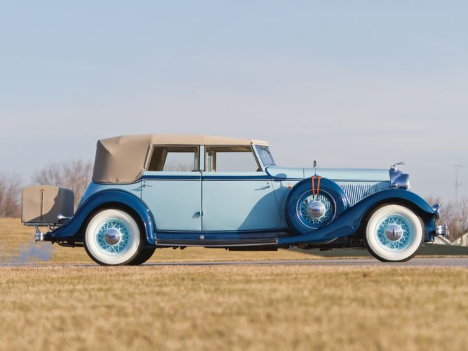1933 Lincoln Model-KB Custom Convertible Sedan by Dietrich 261 retro luxury g wallpaper