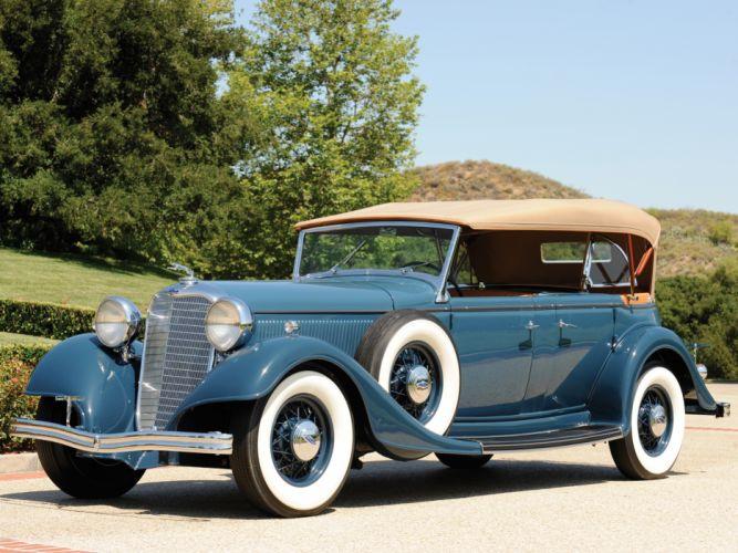 1933 Lincoln Model-KB Dual Cowl Phaeton retro luxury wheel g wallpaper