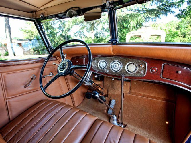 1934 Lincoln Model-KB Convertible Sedan by Dietrich retro luxury interior g wallpaper