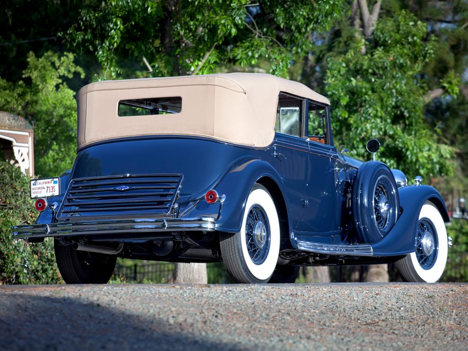 1934 Lincoln Model-KB Convertible Sedan by Dietrich retro luxury  g wallpaper