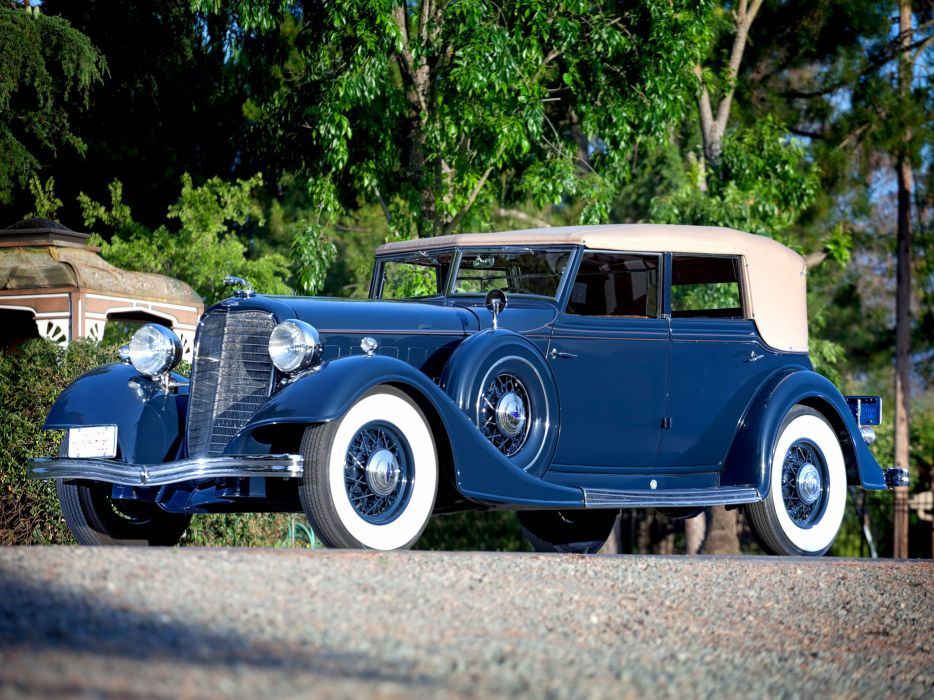 1934 Lincoln Model-KB Convertible Sedan by Dietrich retro luxury     g wallpaper