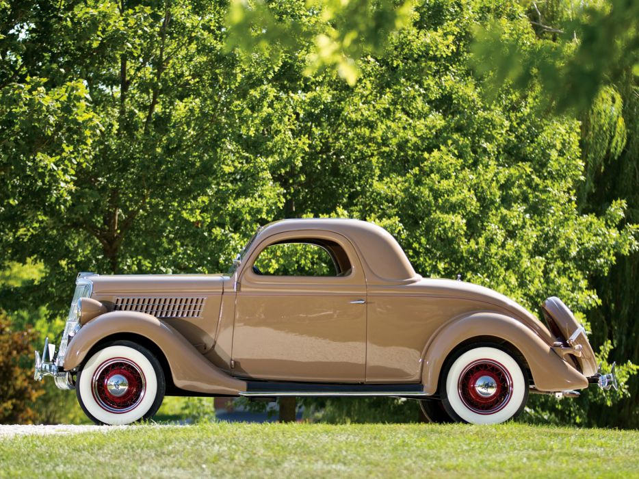 1935 Ford V8 Deluxe 3-window Coupe 48-720 retro v-8      d wallpaper