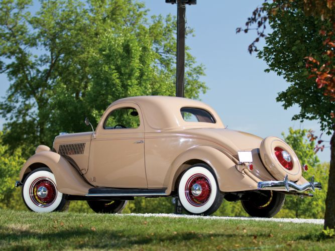 1935 Ford V8 Deluxe 3-window Coupe 48-720 retro v-8 ds wallpaper