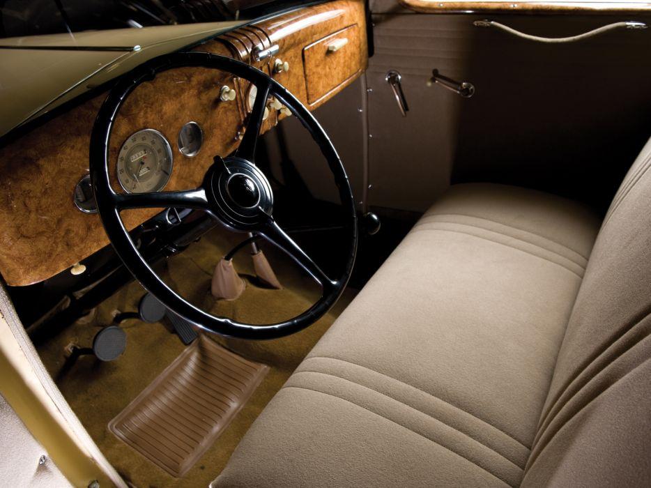 1935 Ford V8 Deluxe 3-window Coupe 48-720 retro v-8 interior        f wallpaper