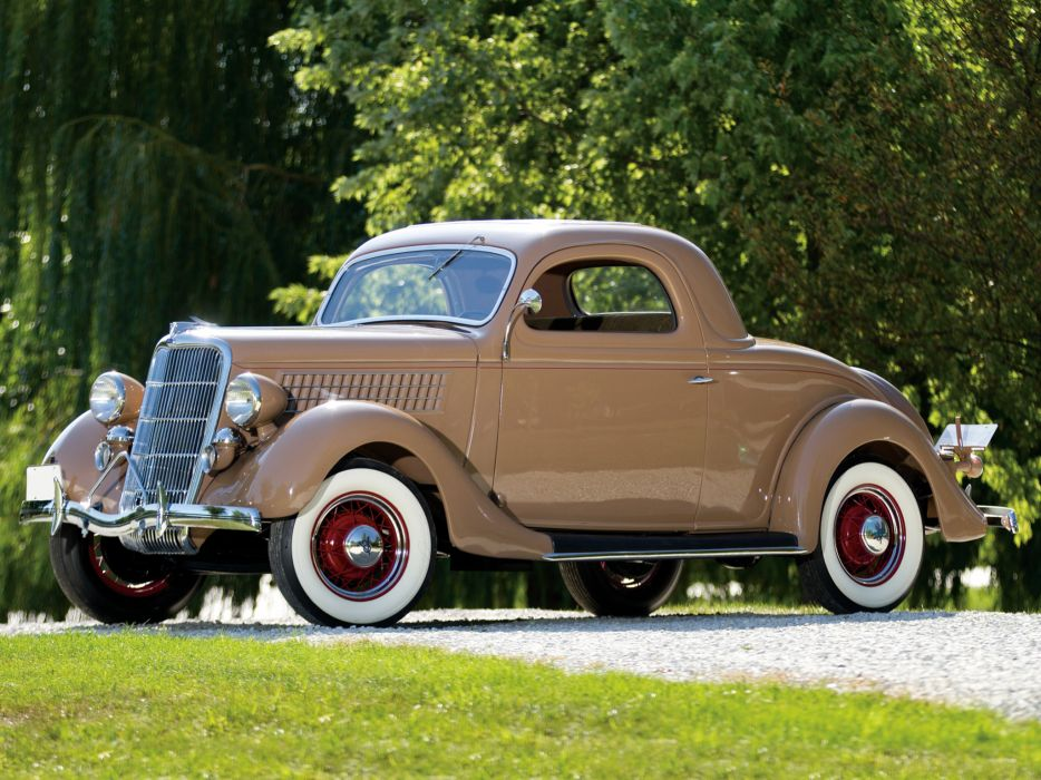 1935 ford v8 deluxe 3 window coupe 48 720 retro v 8 dd for 1935 3 window coupe
