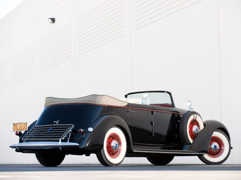 1936 Lincoln Model-K Dual Windshield Convertible Sedan by LeBaron retro luxury    g wallpaper