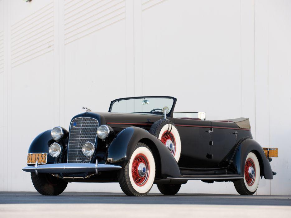 1936 Lincoln Model-K Dual Windshield Convertible Sedan by LeBaron retro luxury wallpaper