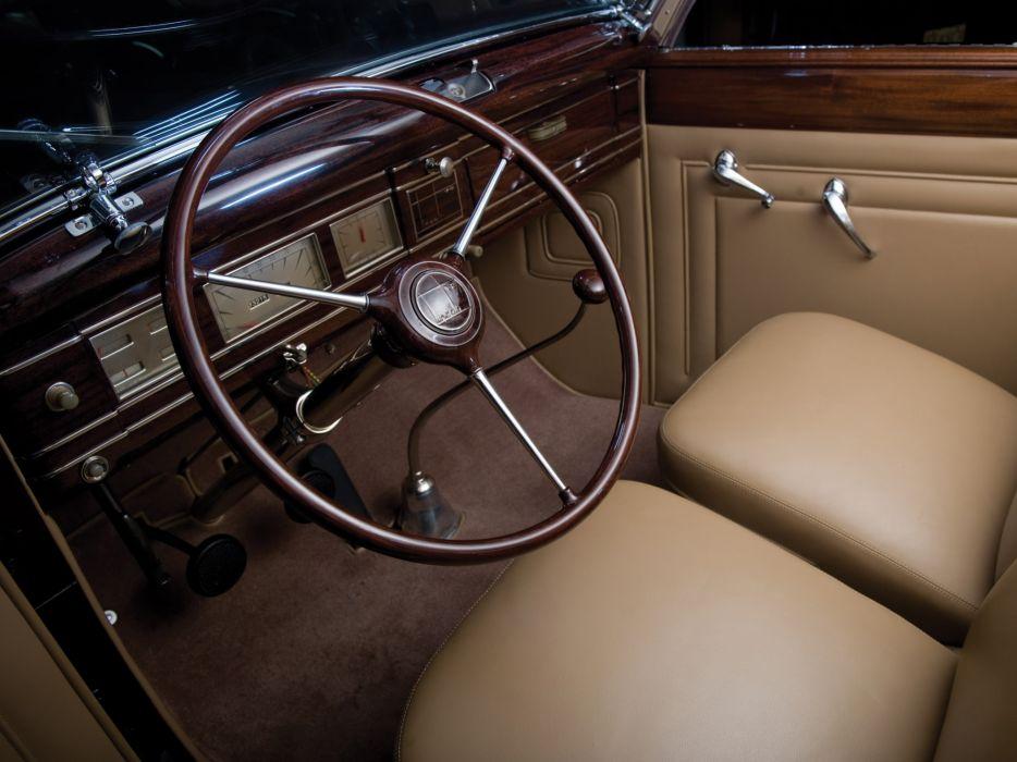 1937 Lincoln Model-K Convertible Victoria by Brunn retro luxury interior     h wallpaper