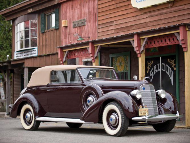 1937 Lincoln Model-K Convertible Victoria by Brunn retro luxury g wallpaper