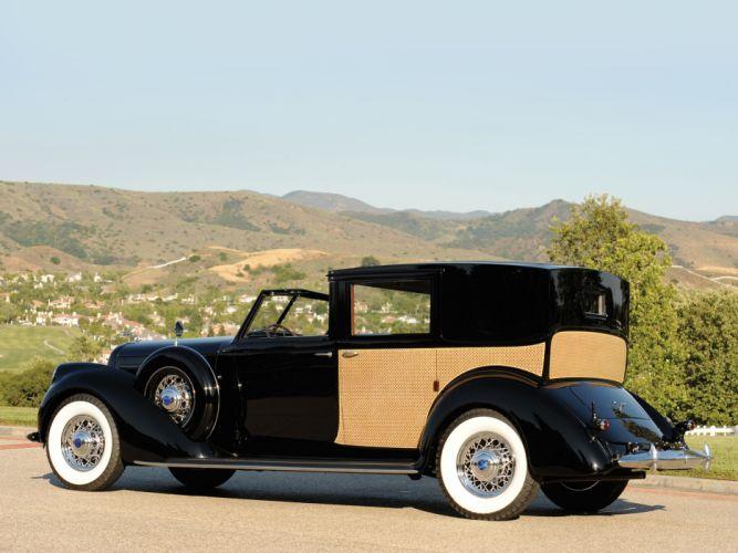 1937 Lincoln Model-K Panel Brougham retro luxury f wallpaper