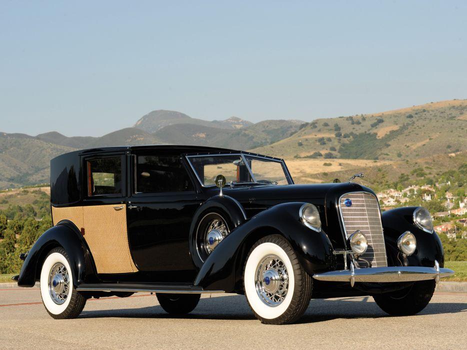 1937 Lincoln Model-K Panel Brougham retro luxury wallpaper