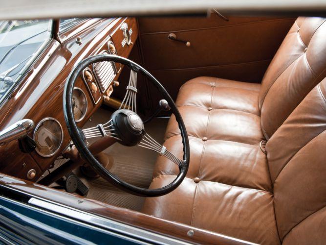 1938 Ford V8 Deluxe Convertible Coupe 81A-760A retro v-8 interior g wallpaper