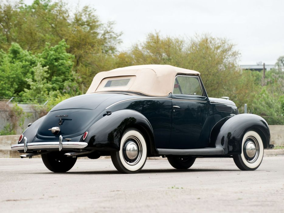 1938 Ford V8 Deluxe Convertible Coupe 81A-760A retro v-8    g wallpaper