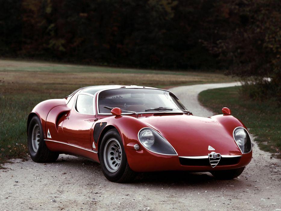 1967 Alfa Romeo Tipo-33 Stradale classic supercar race racing tipo wallpaper