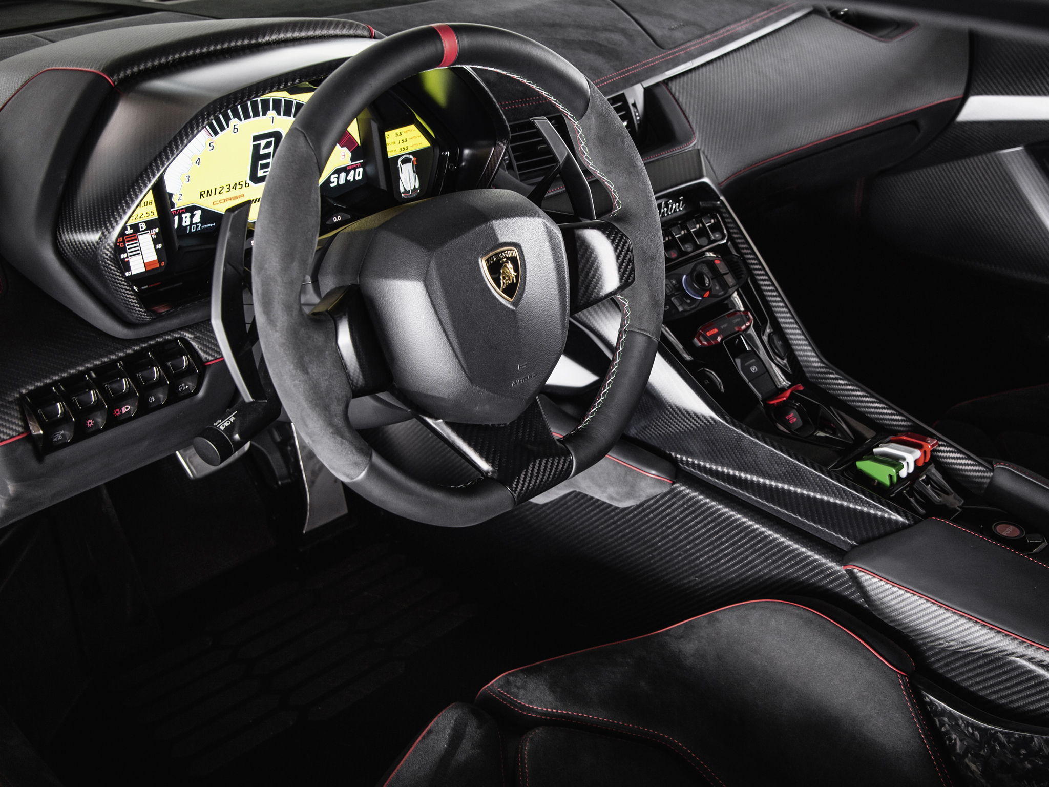 2013 lamborghini veneno supercar interior d wallpaper 2048x1536 153627 wallpaperup. Black Bedroom Furniture Sets. Home Design Ideas