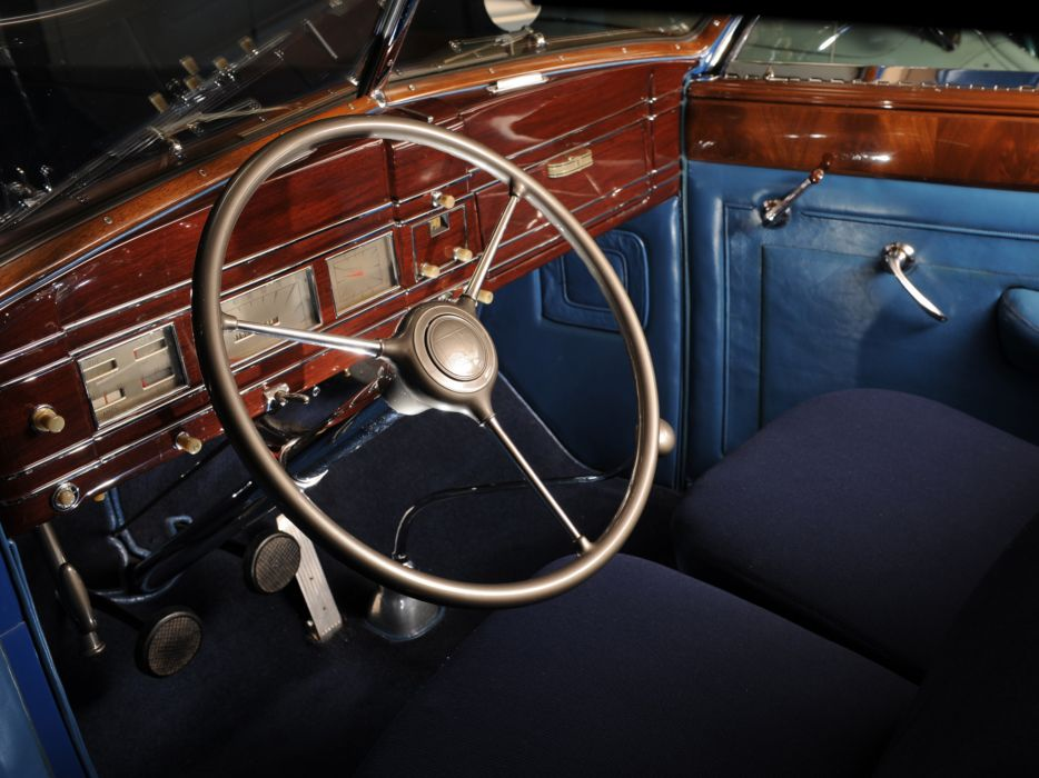 1938 Lincoln Model-K Convertible Victoria retro luxury interior      g wallpaper