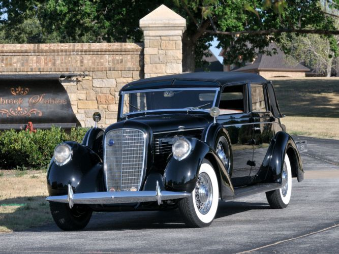 1938 Lincoln Model-K Semi-Collapsible Cabriolet by Brunn retro luxury f wallpaper
