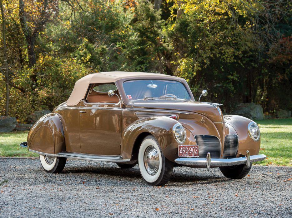 1938 Lincoln Zephyr Convertible Coupe retro   fs wallpaper