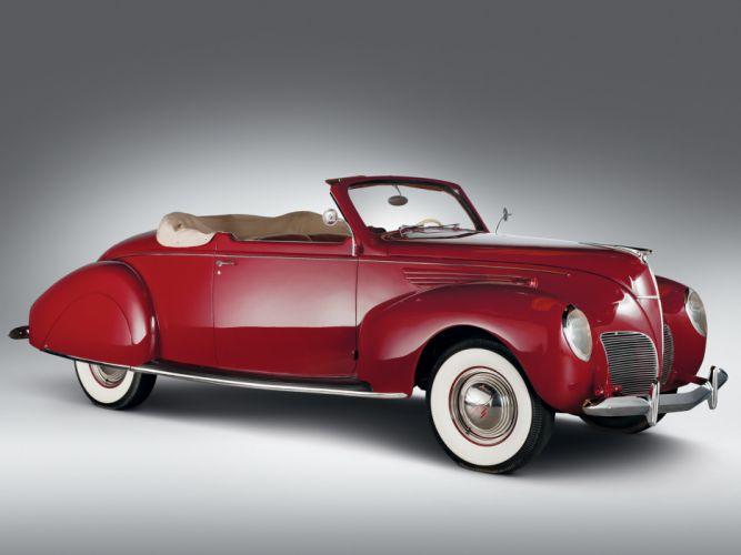 1938 Lincoln Zephyr Convertible Coupe retro g wallpaper